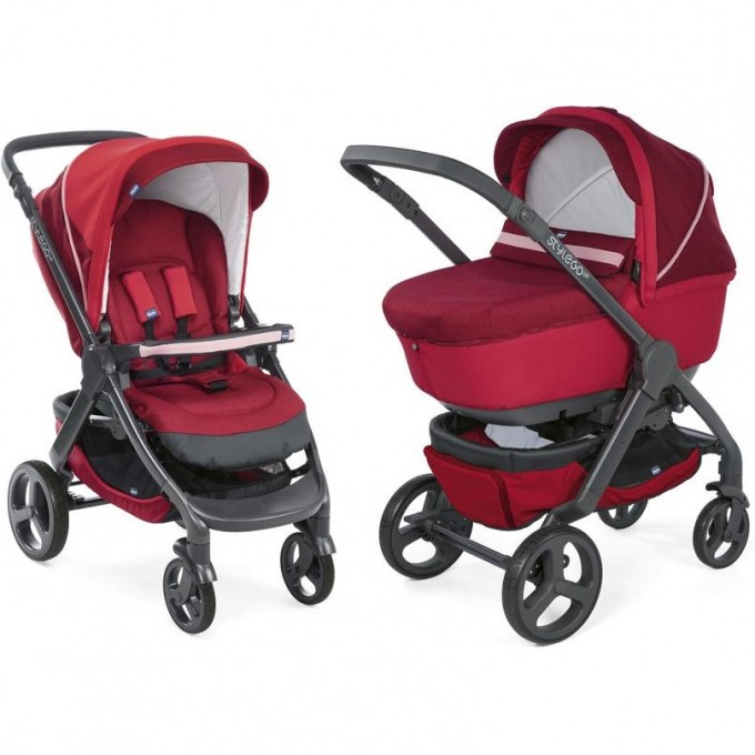 Коляска CHICCO DUO STYLEGO (2в1) UP CROSSOVER, Red Passion 07079760640000
